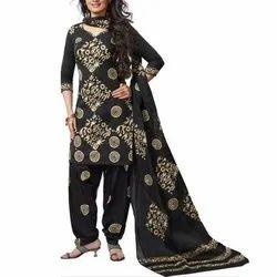 Casual Patiala Suit Cambric Print Cotton Salwar Kameez
