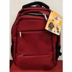 Polyester Red School Bag