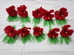 Party Foaming Washable Material Artificial Jaswant / Hibiscus / Jasud Judi