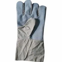 12 Inch Leather Cotton Gloves