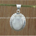Rainbow Moonstone Indian Jewelry 925 Sterling Silver Pendant