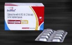 Carbonyl Iron 100 mg, Zinc 61.8 mg & Folic Acid 1.5 mg,Vit. C 75 mg & Vit. B12 15 mcg  Capsule