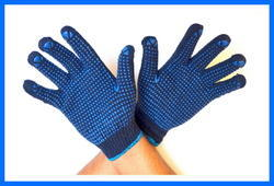 Blue On Blue Dotted Hand Gloves 50 Gram
