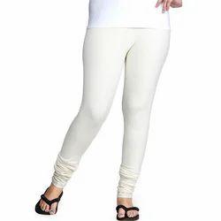 Real Knit Churidar Ladies White Stretchable Legging