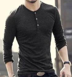 Blue Cotton Mens Fancy T-Shirt, Size: XL And Large