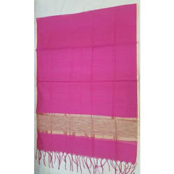 Cotton Casual Wear Pink Ladies Stole