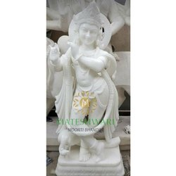 Marble Krishna Temple Statue