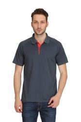 Adidas Men''s Grey Polo T-Shirt