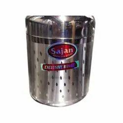 Stainless Steel Round Sajan SS Box
