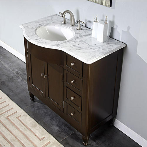 Solid Wood And Marble Wash Basin Cabinet Rs 8500 Piece