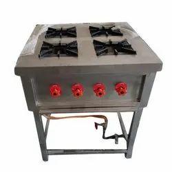 AMCO 4 Four Burner Gas Range, For Restaurant