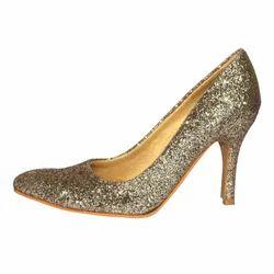 Women Golden Pump Heels Sandal