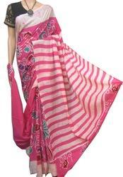 boutique saptaparni Silk Cotton Batik Cotton Malmal Saree, Hand, 6.3 m (with blouse piece)