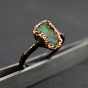 Natural Fire Opal Gemstone Ring