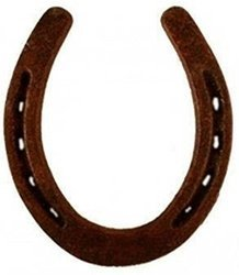 Brown Iron Fengshi Horse Shoe, for Household