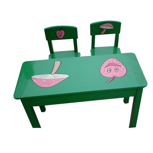 Wooden Green Two Seater Table Chair Set Rs 4000 Set Id