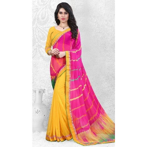9a8aa56241 Georgette And Silk Tiy And Diy Ladies Saree, Rs 2499 /one | ID ...
