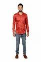 Men Vida Loca Satin Cotton Printed Orange Color Shirt