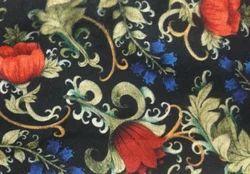 Multicolor Printed Velvet