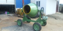 Concrete Mixer Machine - Electric Motor with Wheel