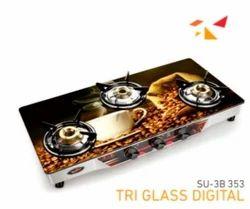 SU 3B 353 Tri Glass Digital Gas Stove