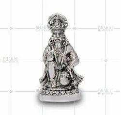 Silver Plated Lord Hanuman Idol