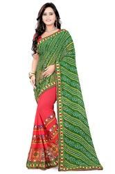 Riva Georgette Ethnic Wear Saree, Length: 6.3 m