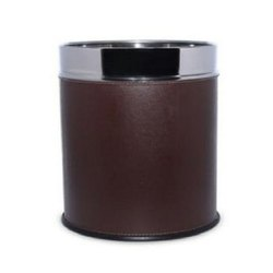 Leather Finish Stainless Steel Dustbin