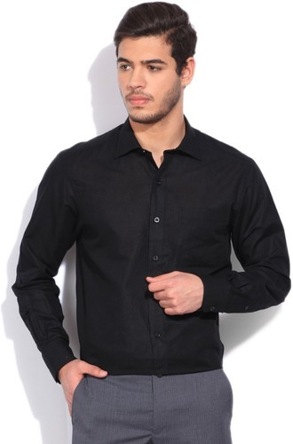 Men's Black Formal Shirt, Men Shirts, Jeans & Clothing | Yuva ...