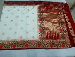 Wedding Wear Kanchipuram softy Contrast Saree, Dry clean, 6 m (with blouse piece)