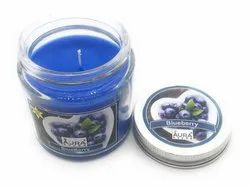 AuraDecor Soy Wax Jar Blueberry Candle