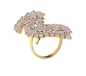 Bird Design American Diamond Ring For Women And Girls