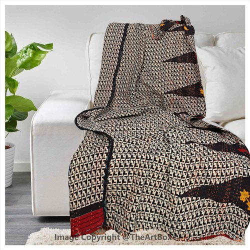 """Large Cotton Sofa Throws Single Indian Bed Throw Arm Chair Covers 50*60/"""" Inches"""