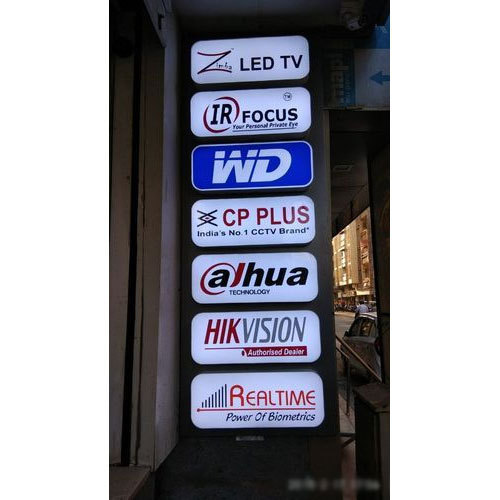 Acrylic, Aluminum Multicolor LED Channel Sign Letter, Shape: Rectangle