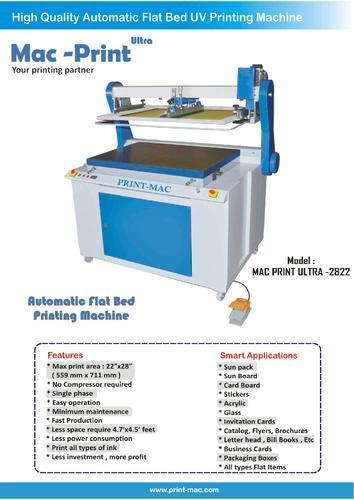 Print Mac Semi Automatic Flat Bed Screen Printing Machine Mac Print
