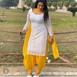 Lado Creations duppin Punjabi Suit, Handwash