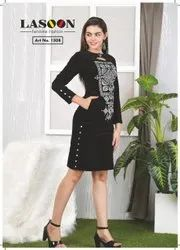 6037 Ladies Woolen Dress