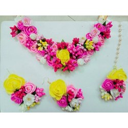Pink Artificial Flower Jewelry