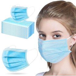 Ear Loop Mount 3 Ply Disposable Face Mask With Nose Pin