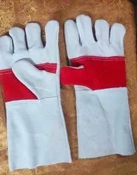 Red Palm Leather Gloves