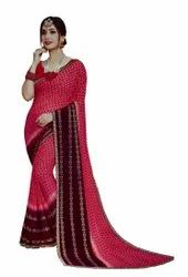 Casual Wear Digital Print Printed Saree, 6.3 m (with Blouse Piece)