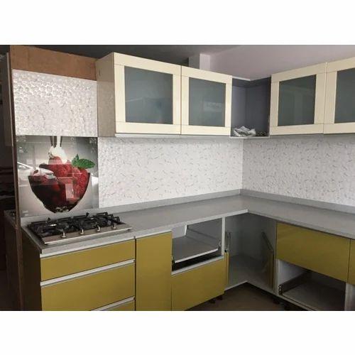 Pvc L Shape Modern Modular Kitchen Rs 850 Square Feet: Plywood L Shape Fancy Modular Kitchen, Rs 1200 /square