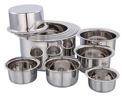 Tope Or Bhagoni Stainless Steel Tope, Capacity: 1ltr To 20 Ltr, Size: All10 To 24