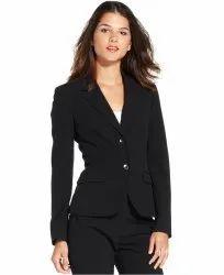Business Black Women's Formal Suit, Size: Medium