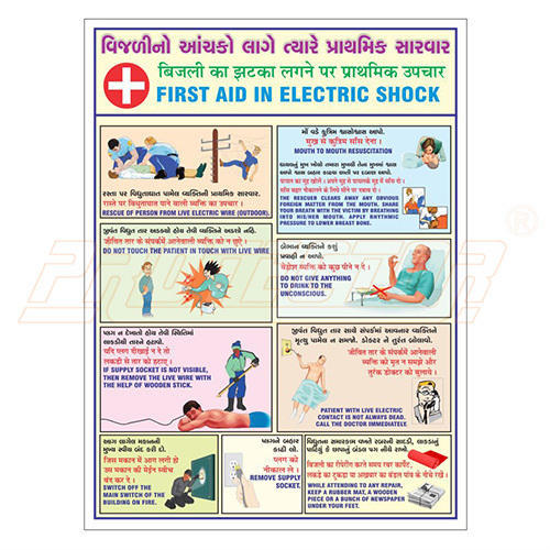 Electrical First Aid Chart With Wooden Frame