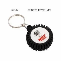 SBGN Black Tyre Key Ring, Packaging Type: Polybag