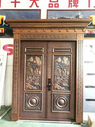 Galvanized Steel Steel Security Doors, Thickness: 7cm ...