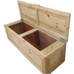 Industrial Rectangular Wooden Pallet Box