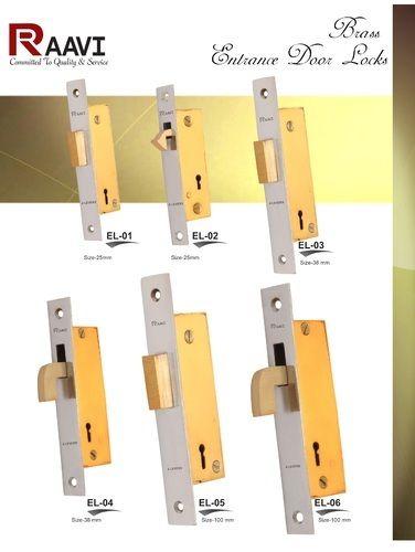 Raavi Iron U0026 Brass Entrance Door Lock, Golden
