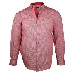 Summer PC Red Checkered School Uniform Shirt, Size: 22 to 42